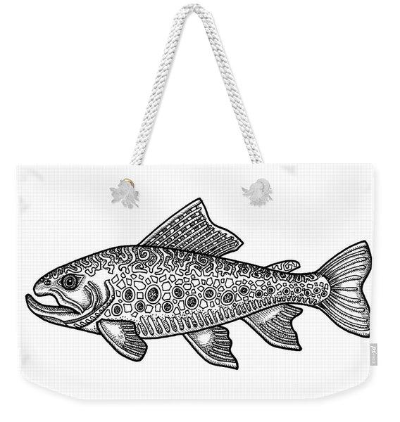 Brook Trout Weekender Tote Bag