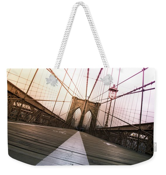 Brooklyn Bridge, New York City Weekender Tote Bag