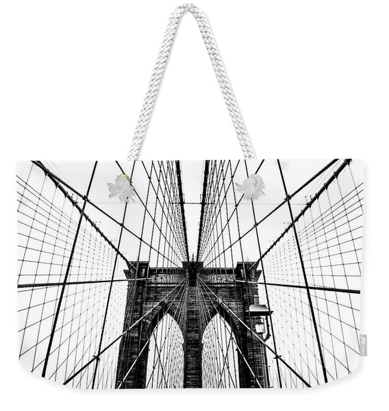 Brooklyn Bridge Web Weekender Tote Bag