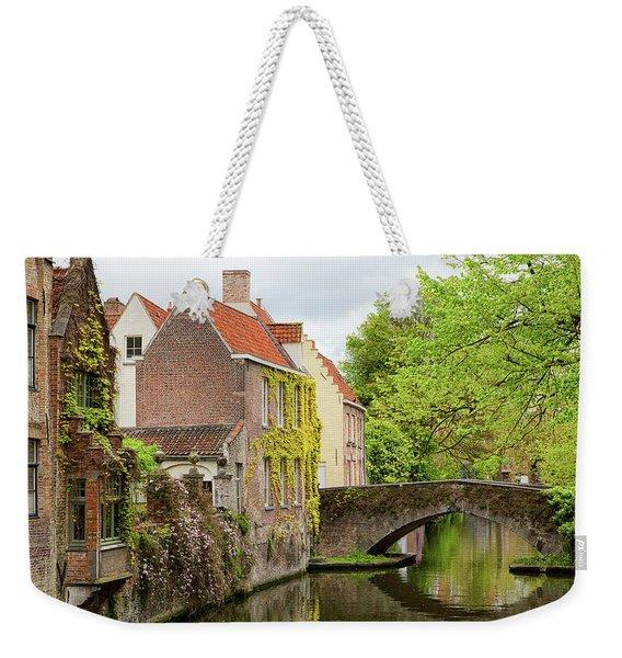 Bruges Footbridge Over Canal Weekender Tote Bag