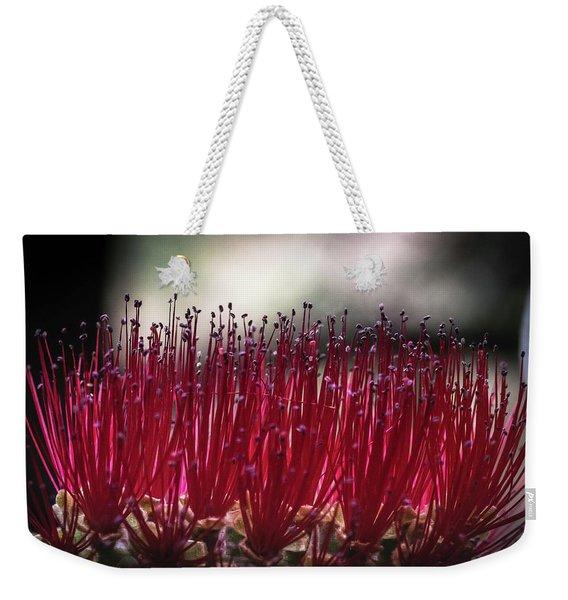 Brush Flower Weekender Tote Bag