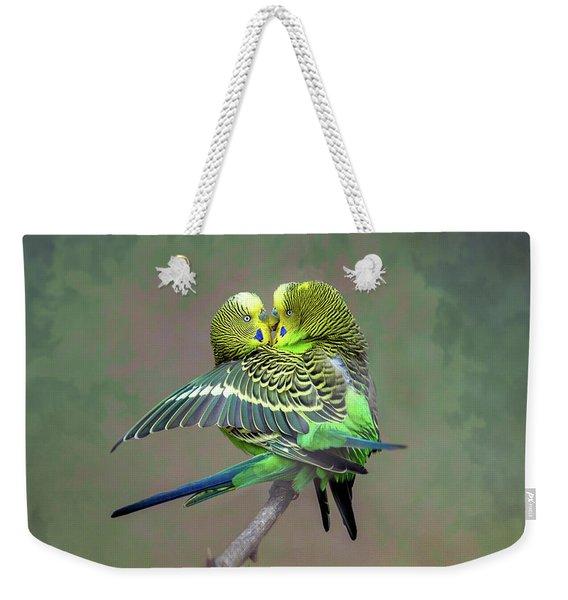 Budgie Love Weekender Tote Bag