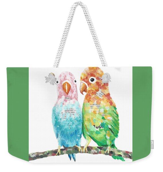 Budgies In Love Weekender Tote Bag