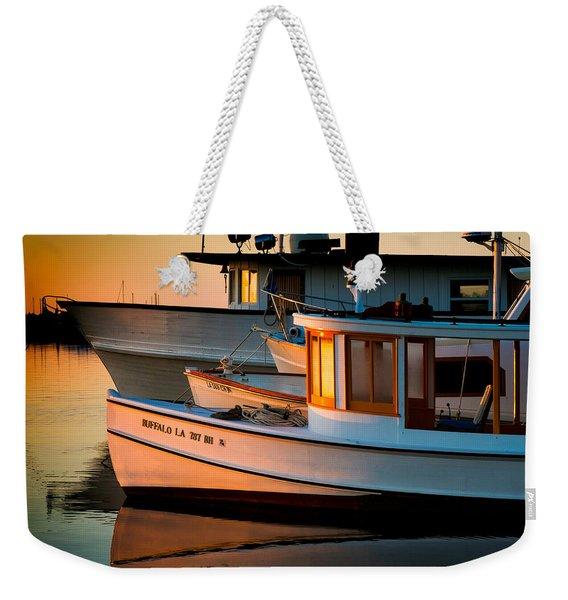 Buffalo Boat Weekender Tote Bag