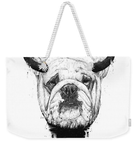 Bull Dog Weekender Tote Bag