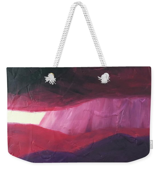 Burgundy Storm On The Horizon Weekender Tote Bag