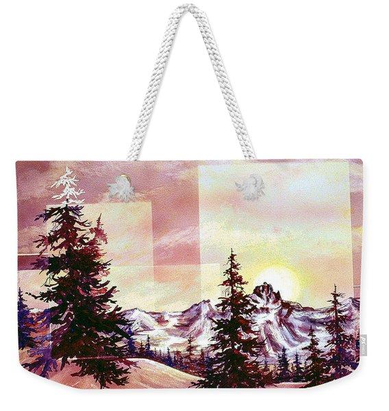 Burgundy Sunrise Weekender Tote Bag