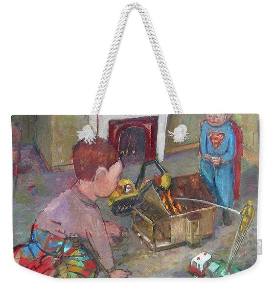 Burning Down The House Weekender Tote Bag