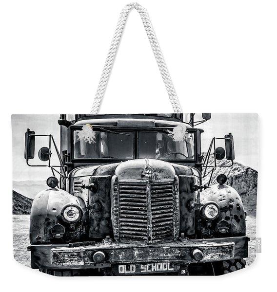 Burning Man Type School Bus Weekender Tote Bag