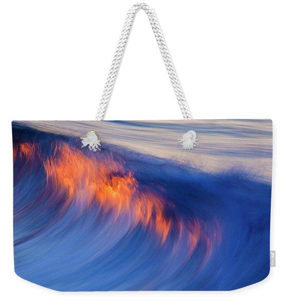 Burning Wave Weekender Tote Bag
