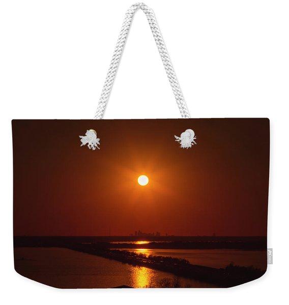 Burnt Orange Weekender Tote Bag