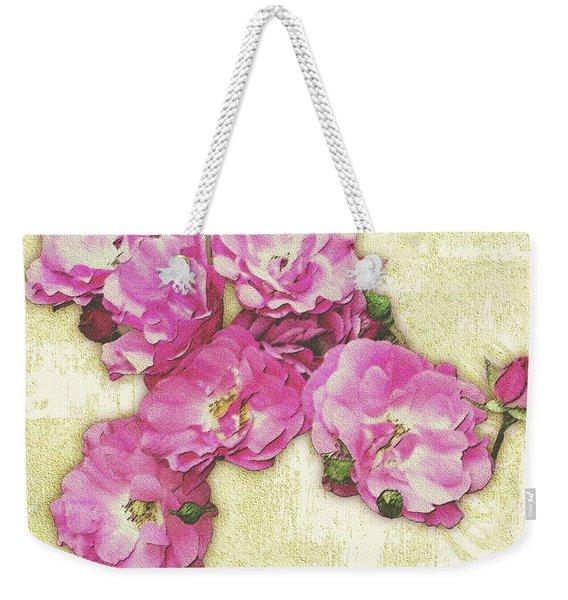 Bush Roses Painted On Sandstone Weekender Tote Bag