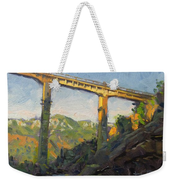 Bushtrica Bridge Albania Weekender Tote Bag