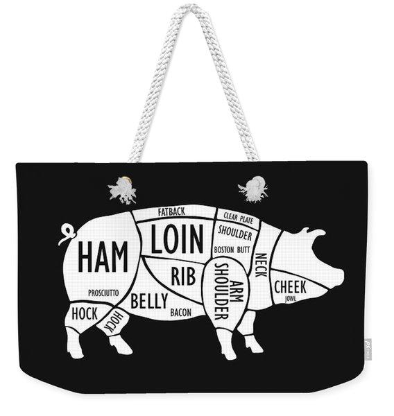 Butchery Guide Cuts Of Pork Weekender Tote Bag