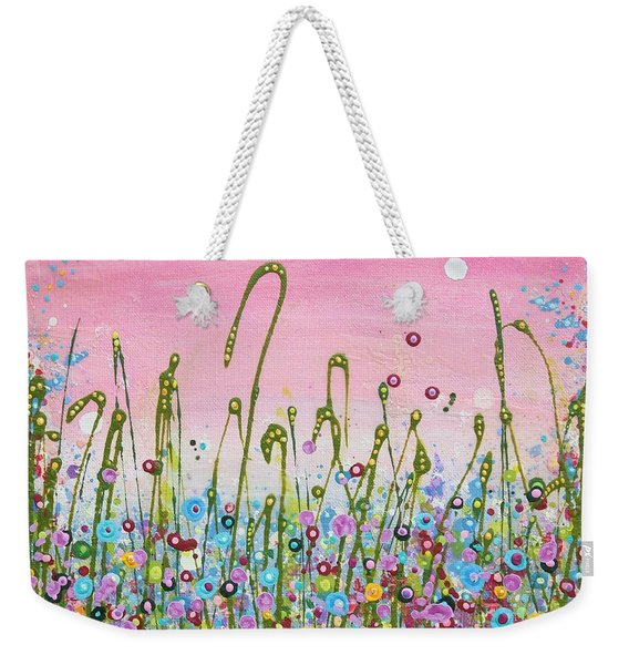 Buttercups And Lilacs Weekender Tote Bag