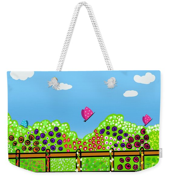 Butterflies And Flowers Weekender Tote Bag