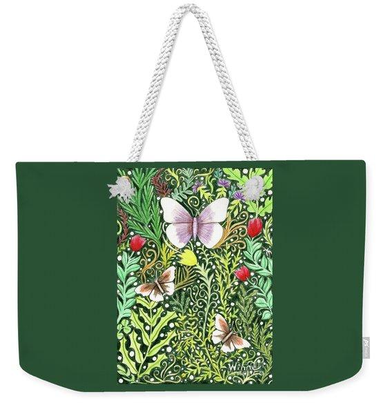 Butterflies In The Millefleurs Weekender Tote Bag