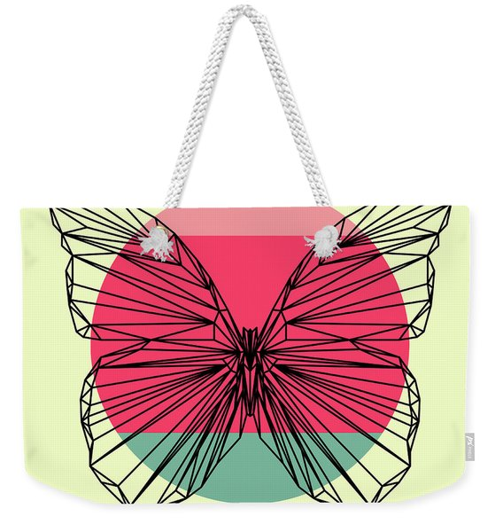 Butterfly And Sunset Weekender Tote Bag