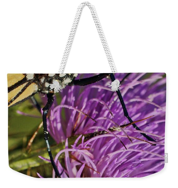 Butterfly Closeup Vertical Weekender Tote Bag