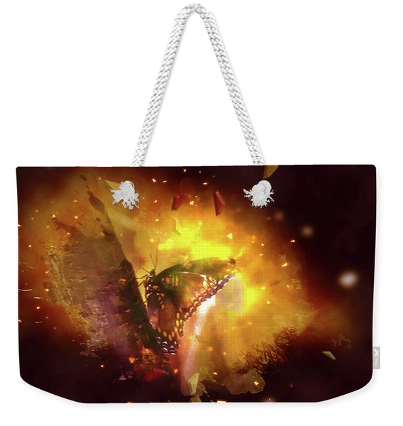 Butterfly Color Explosion. Weekender Tote Bag