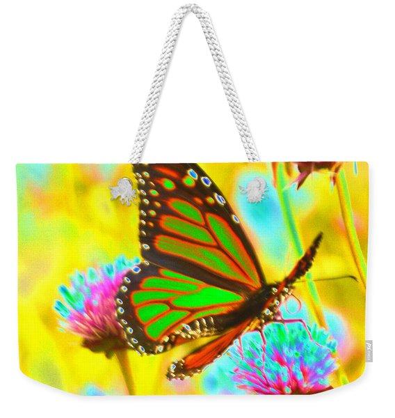 Butterfly Green  Weekender Tote Bag