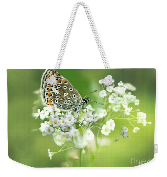 Butterfly On Babybreath Weekender Tote Bag