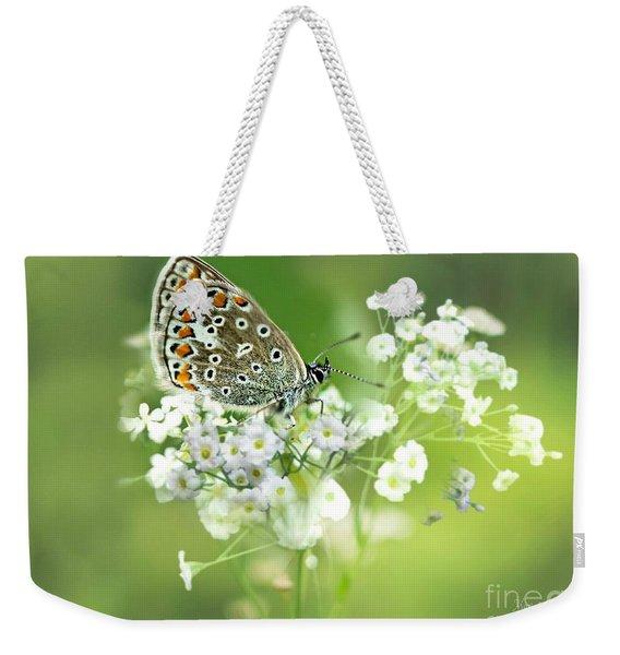 Butterfly On Babybreath Weekender Tote Bag