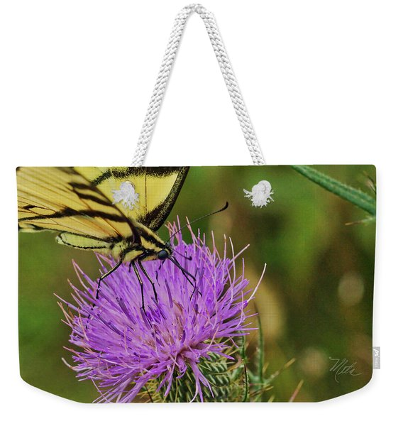 Butterfly On Bull Thistle Weekender Tote Bag