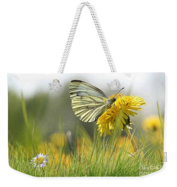 Butterfly On Dandelion Weekender Tote Bag