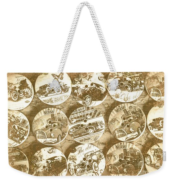 Button Roadhouse Weekender Tote Bag