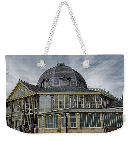 Weekender Tote Bag featuring the photograph Buxton Octagon Hall At The Pavilion Gardens by Scott Lyons