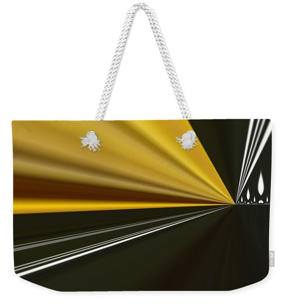 Weekender Tote Bag featuring the painting By Night by A zakaria Mami