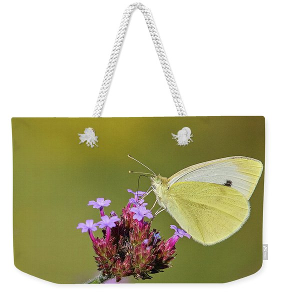 Cabbage White Butterfly Weekender Tote Bag