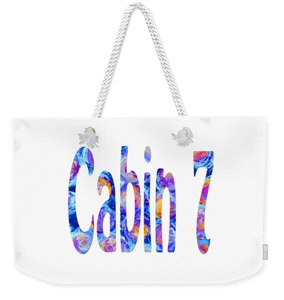 Cabin 7 Colors Weekender Tote Bag