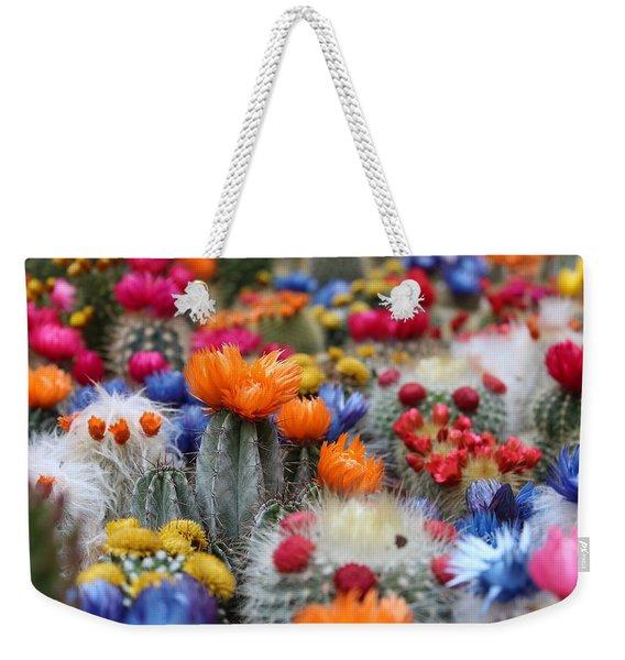 Cacti Flowers Weekender Tote Bag