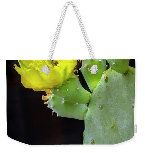 Cactus Blooms With Bee II Weekender Tote Bag
