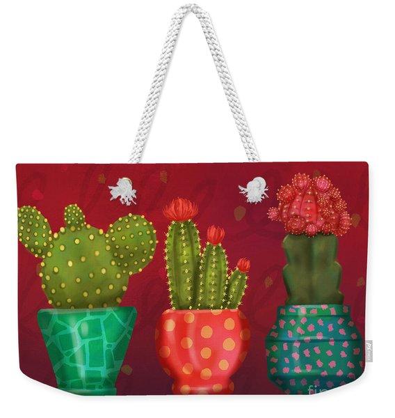 Cactus Friends II Weekender Tote Bag