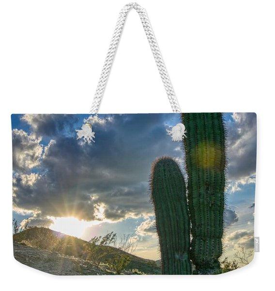 Cactus Portrait  Weekender Tote Bag