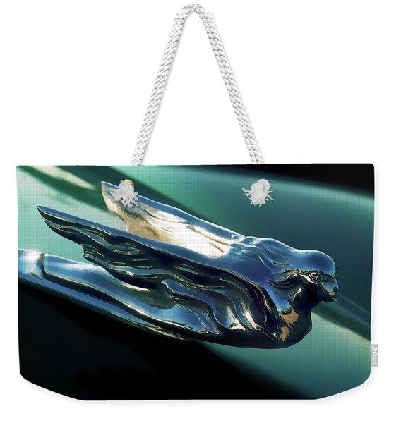 Cadillac Hood Ornament Weekender Tote Bag