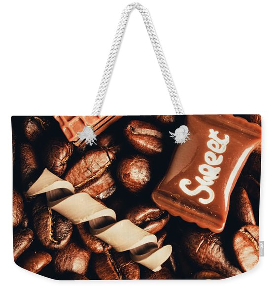 Cafe Beans And Sweet Treats Weekender Tote Bag