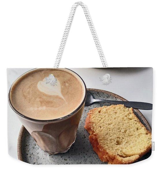 Cafe. Latte And Cake.  Weekender Tote Bag