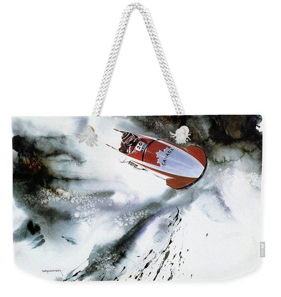 Olympic Bobsleigh Weekender Tote Bag