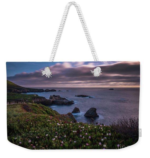 California Coast Dusk Wildflowers Weekender Tote Bag