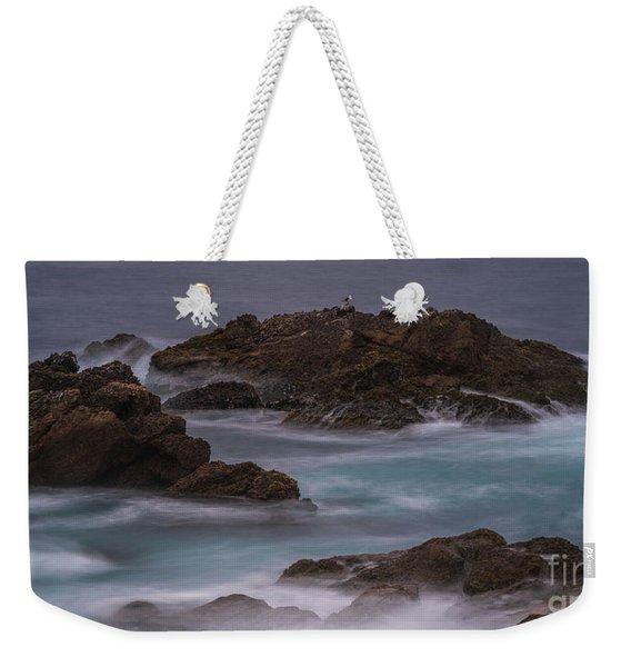 California Coast Waves Motion Weekender Tote Bag
