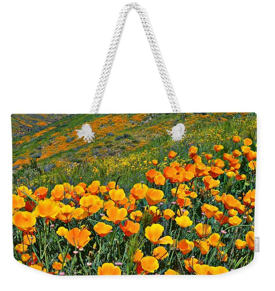 California Golden Poppies And Goldfields Weekender Tote Bag