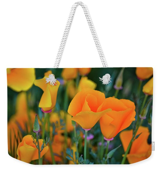 California Poppies Lake Elsinore Weekender Tote Bag