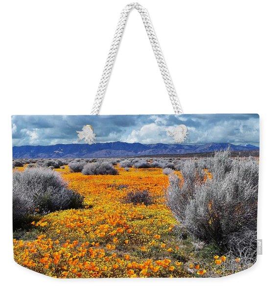 California Poppy Patch Weekender Tote Bag