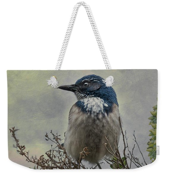California Scrub Jay - Vertical Weekender Tote Bag