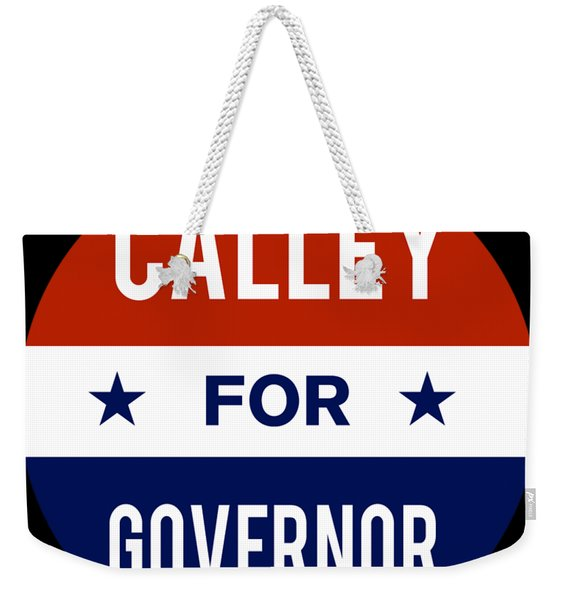 Weekender Tote Bag featuring the digital art Calley For Governor 2018 by Flippin Sweet Gear