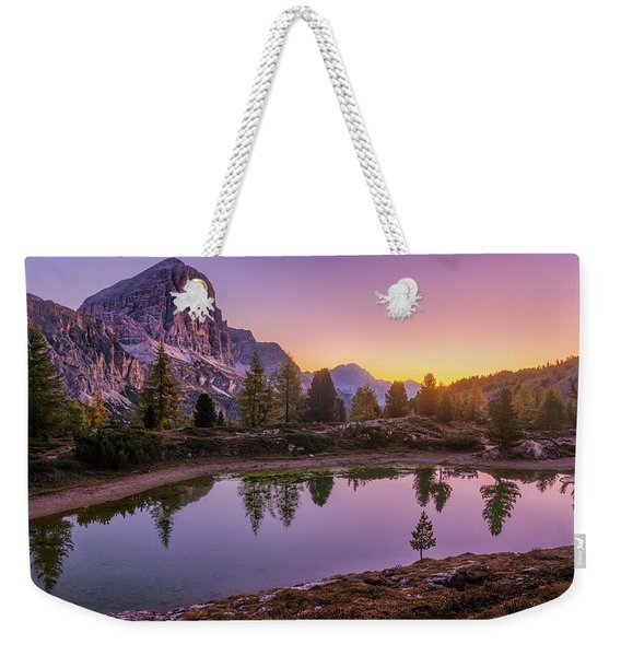 Calm Morning On Lago Di Limides Weekender Tote Bag